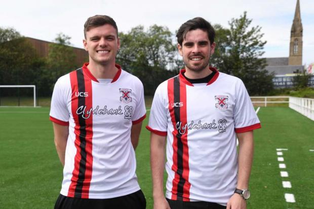Clydebank Post: New Bankies recruits raring to go at newly-developed Holm Park (Photo: Stevie Doogan)