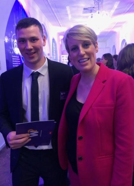 Shaun McKay with the BBC's Steph McGovern who presented the ceremony
