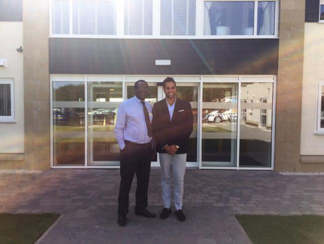 Kingsacre manager William Mukuma and Morrison Community Care Group managing director Paul Sokhi