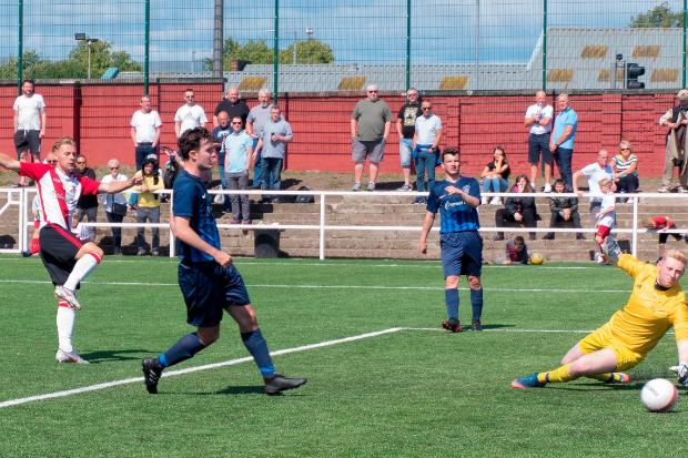 Cammy McClair completes the rout with an eighth (Photo: Stevie Doogan)