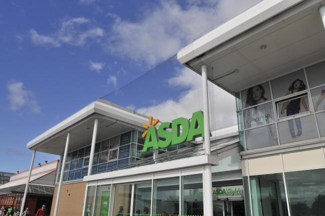 The theft happened at Asda in Clydebank