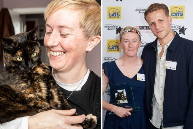 Kirsty and Sparky, and Kirsty with Josh Dylan