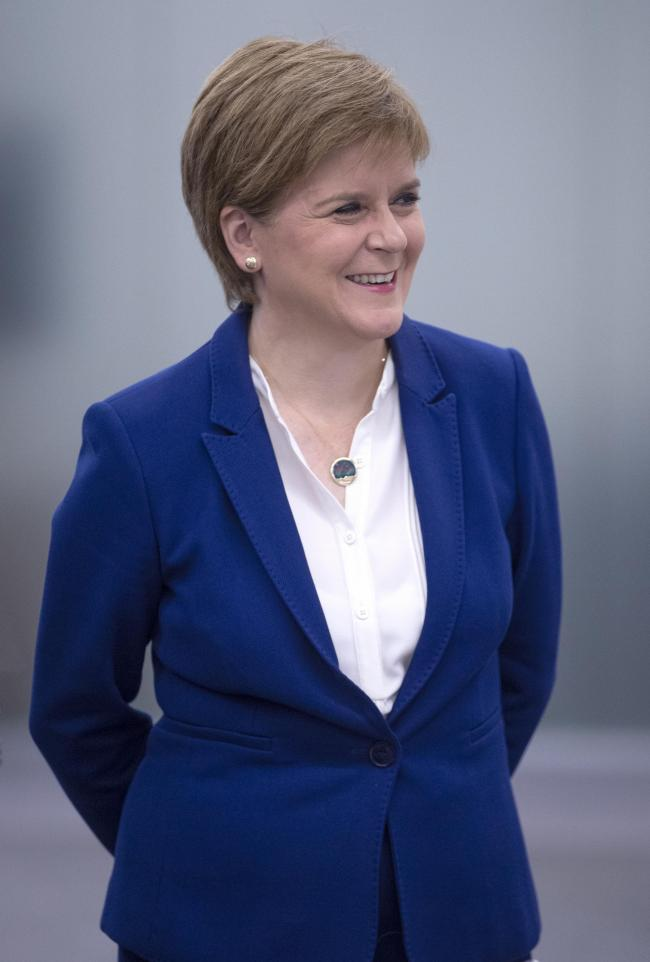 First Minister Nicola Sturgeon unveiled the Scottish Government's new plan to support the use of 5G technology. (Photo by Jane Balow - WPA Pool/Getty Images)