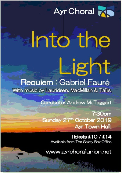 Ayr Choral Concert - Into the Light