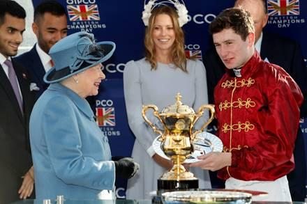 Oisin Murphy won the Queen Elizabeth Stakes at last year's Champions Day with Roaring Lion