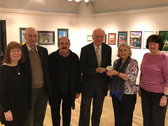 Gil Paterson MSP with members of the Faifley Art Group