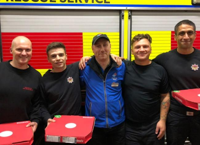 Clydebank firefighters donated well-deserved treat on Bonfire Night