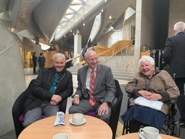 Charlie and Rose with Gil Paterson MSP