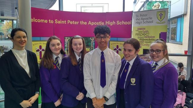 St Peter the Apostle High says its My World of Work ambassadors have benefitted from the programme