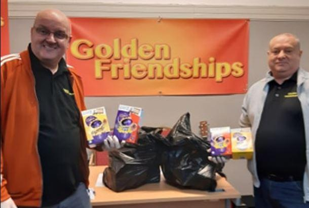 Hays Travel handed over the Easter eggs to Golden Friendships