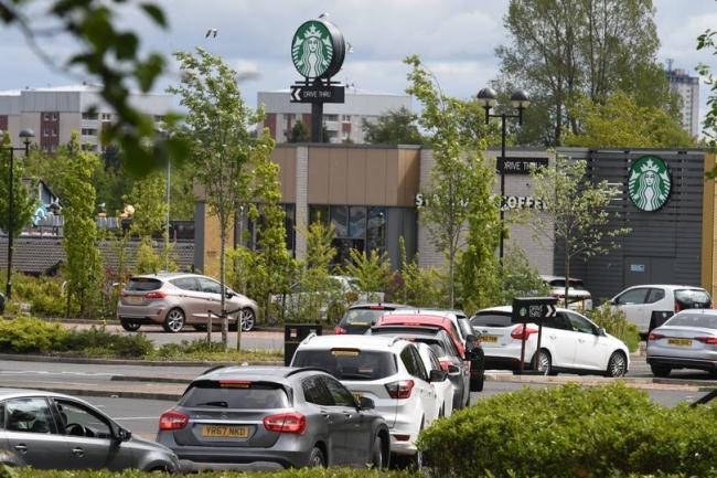 Queues at Starbucks, Great Western Road Retail Park