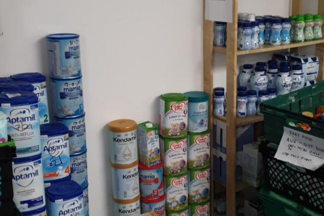 Urgent plea for foodbank donations after formula milk scooped up in hours