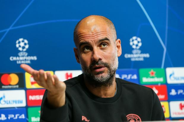 Manchester City manager Pep Guardiola was pleased with his side's performance in Marseille