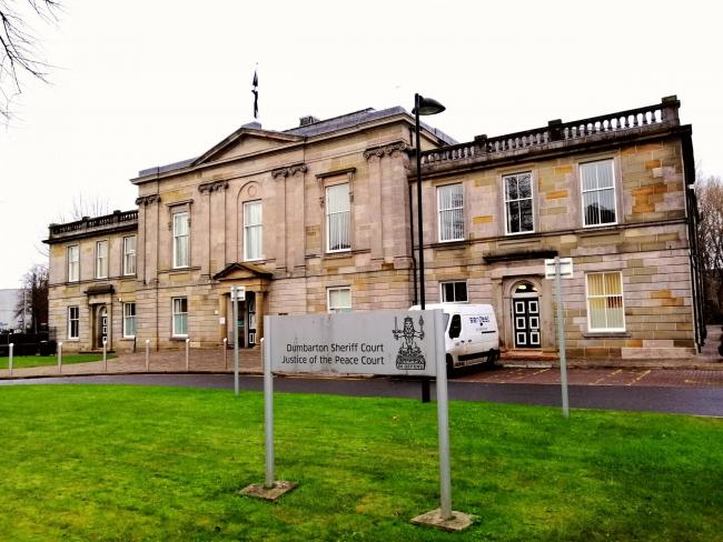 Liam Moir appeared from custody at Dumbarton Sheriff Court