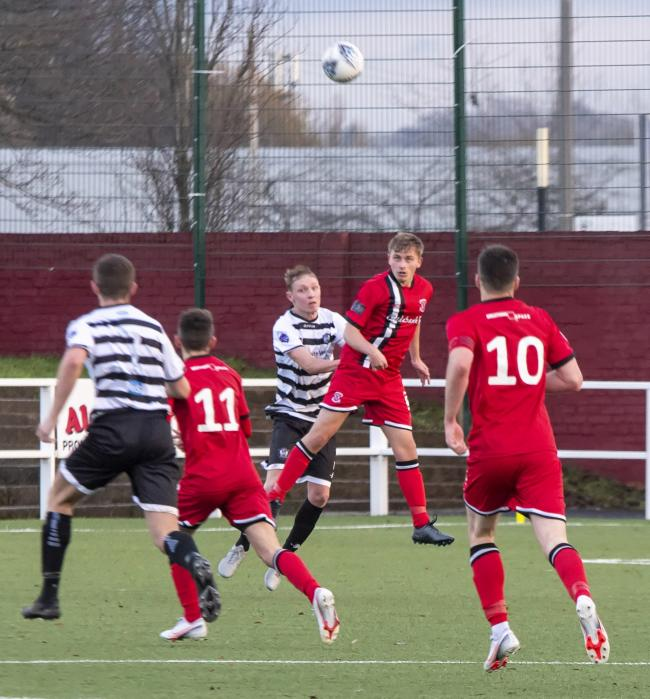 Ben Cameron, seen in action for Clydebank in December's 4-0 win at home to Rutherglen Glencairn, is one of several graduates to the first team from the club's development squad (Pic: Stevie Doogan)