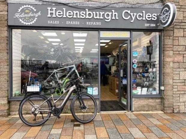 Clydebank Post: Helensburgh Cycles stepped in to help Jim out with a new bike