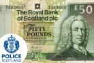 Police in Helensburgh say a man has been charged with using a fake £50 note at a shop in the town