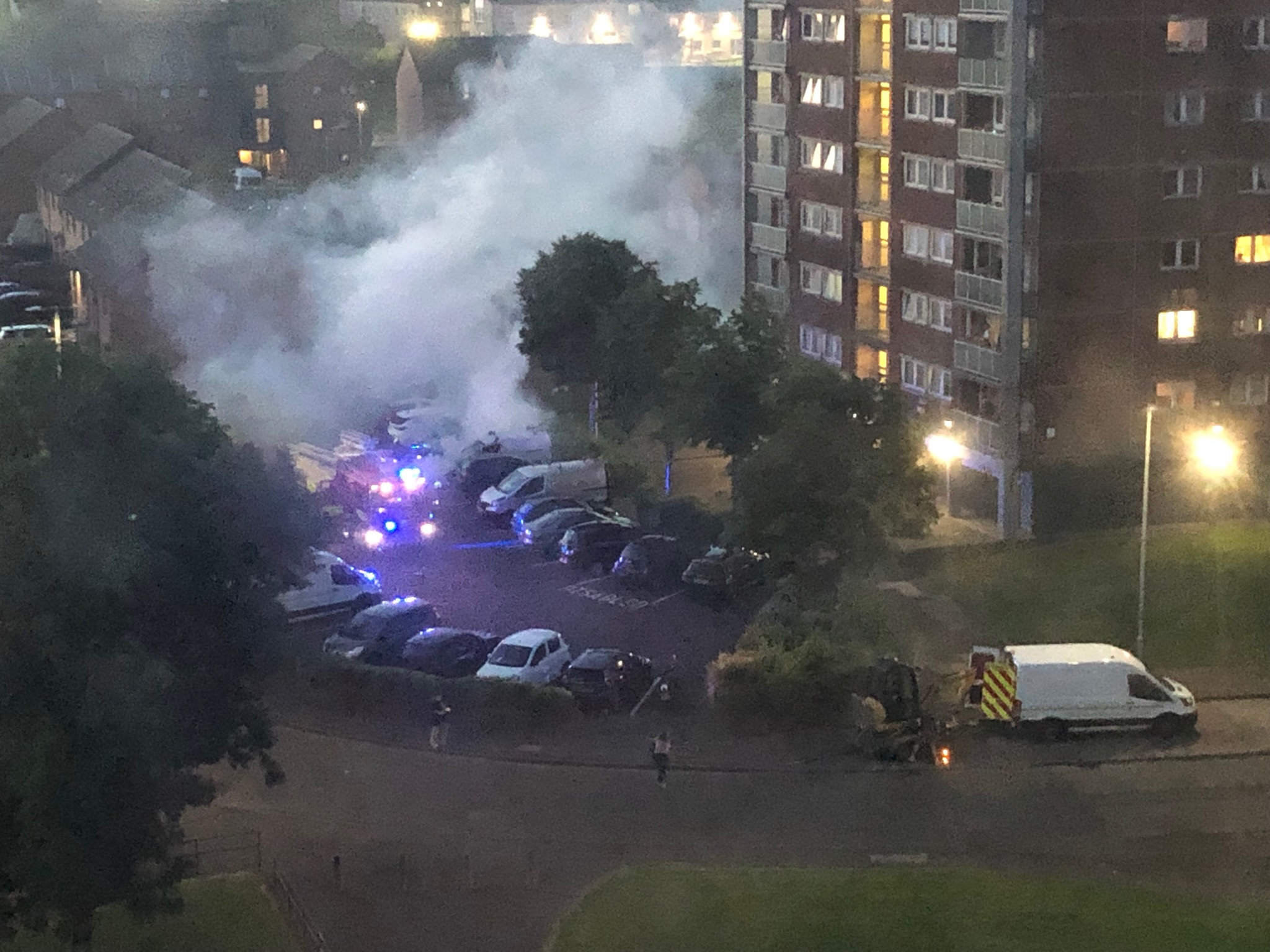 Clydebank crime: Van and digger set on fire in Radnor Park