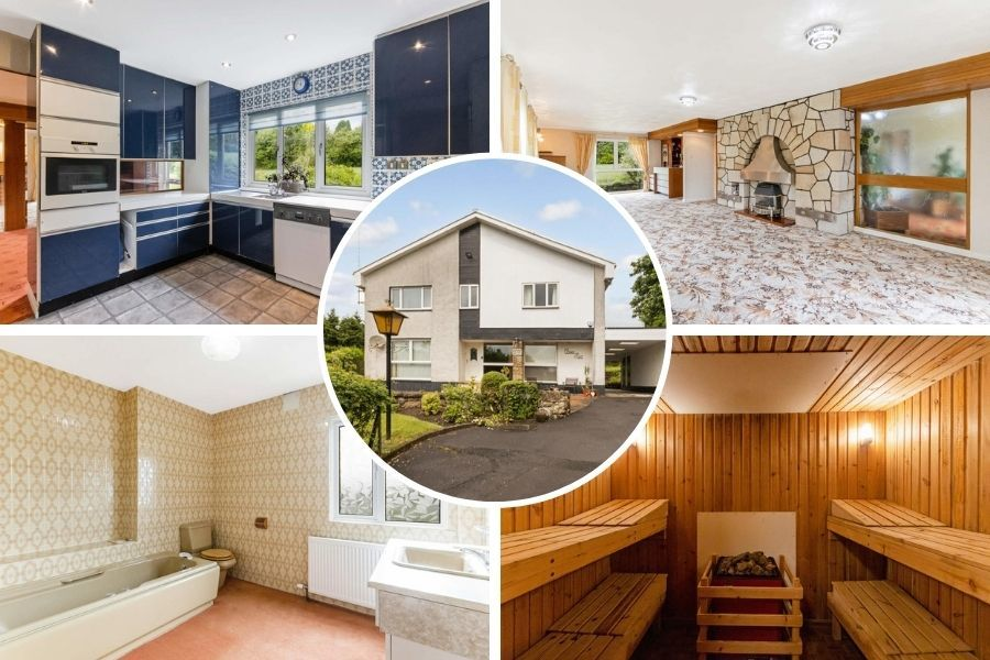 Clydebank property: Four-bedroom family home comes with its own sauna