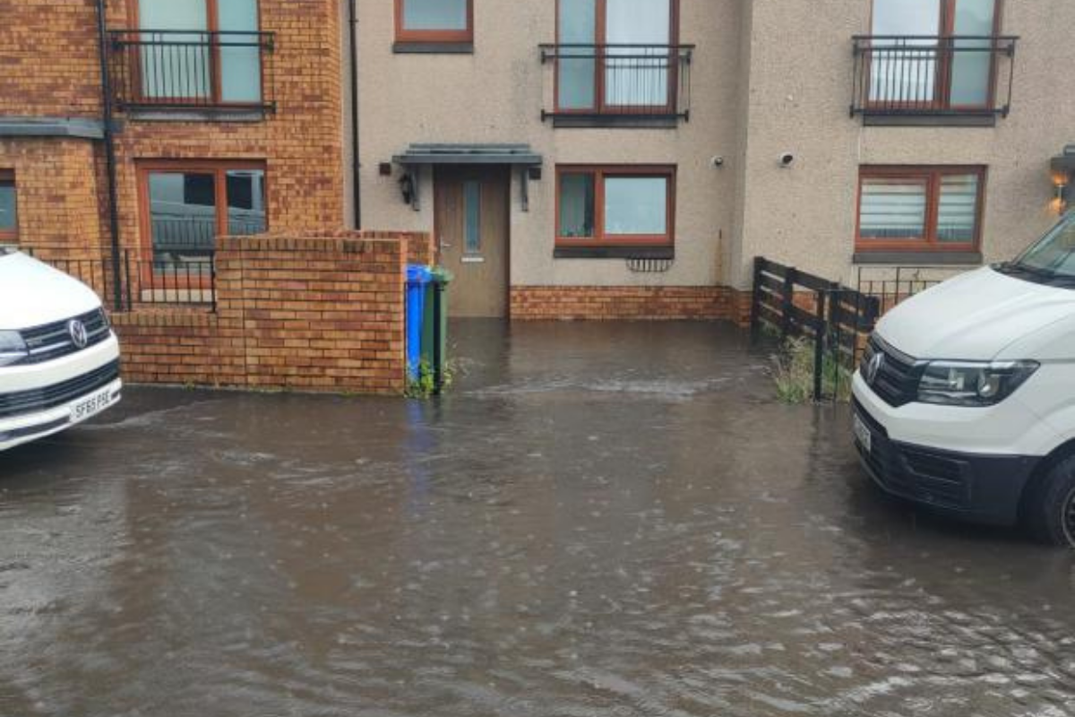 Drumchapel's flooded Summerhill Road could cost millions to repair