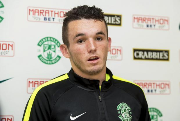 Hibs midfielder John McGinn was named Championship player of the season