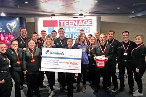 Clydebank Dominos helps to raise more than £25k for teenage cancer charity
