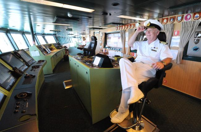 Captain Nick Bates will tell of his time as captain of the QE2. Photo credit: James Morgan.