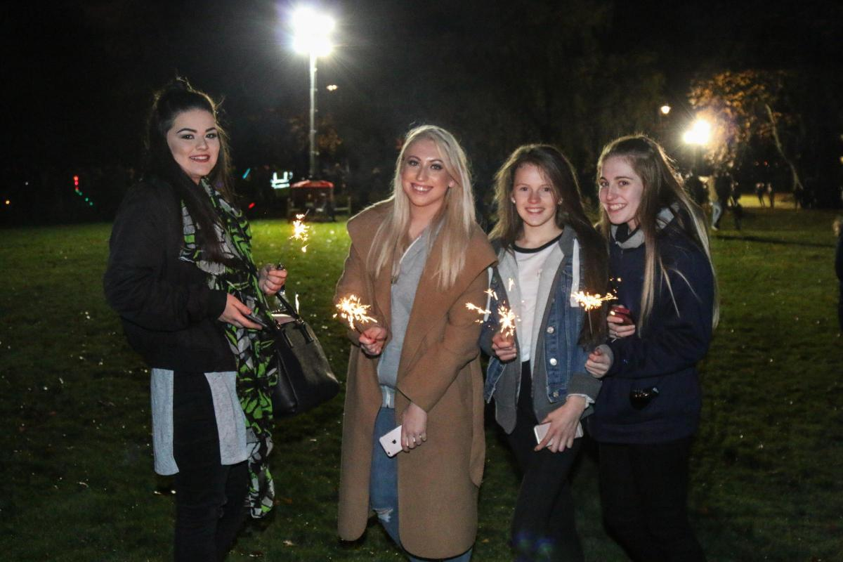 Attendees at Dalmuir Park's fireworks night in November last year