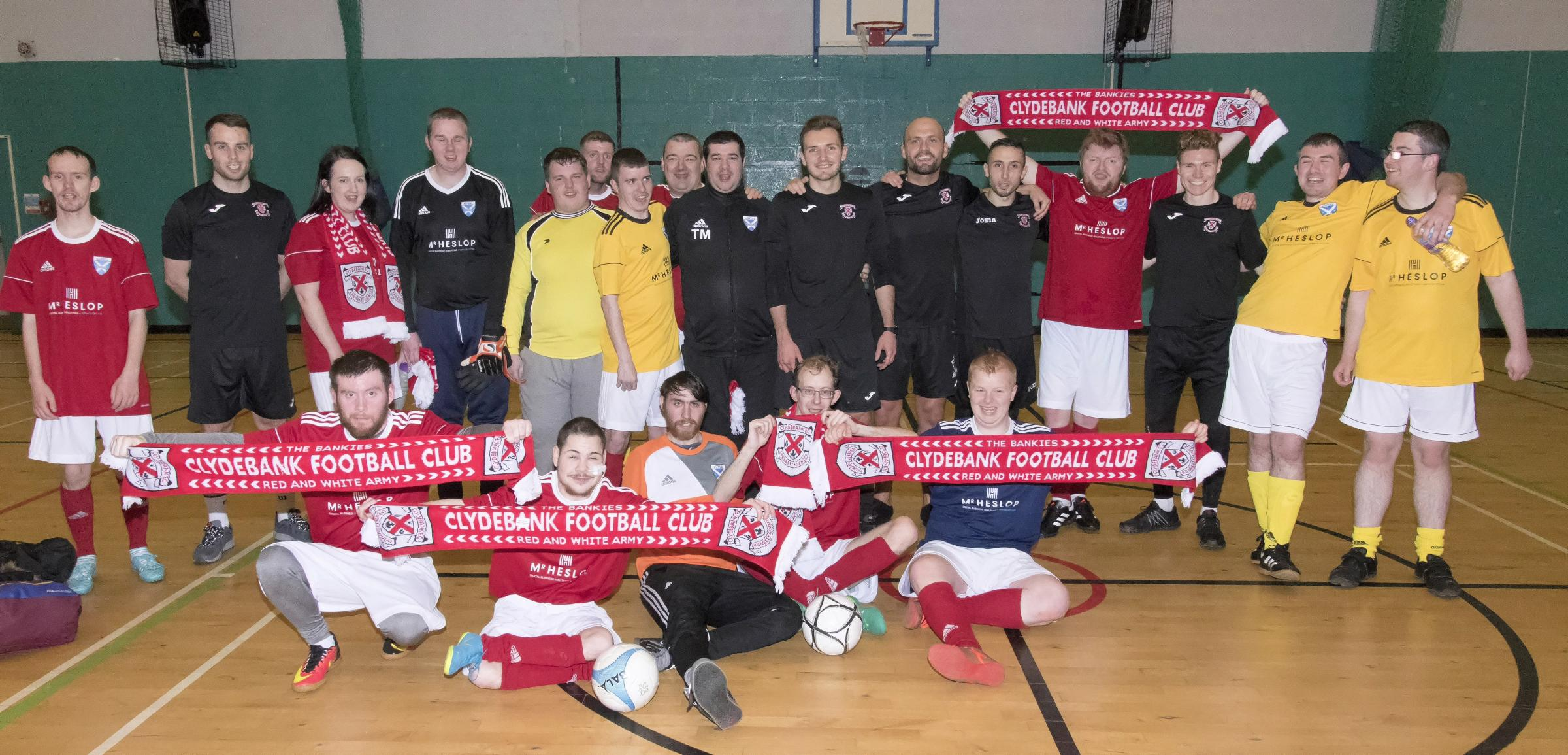 Clydebank FC players try their hand at futsal