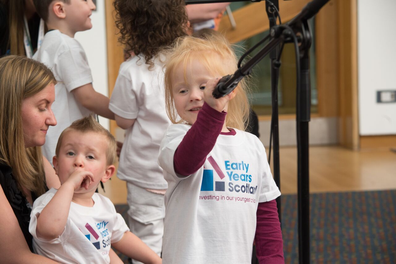 Pupils showed their enthusiasm through song