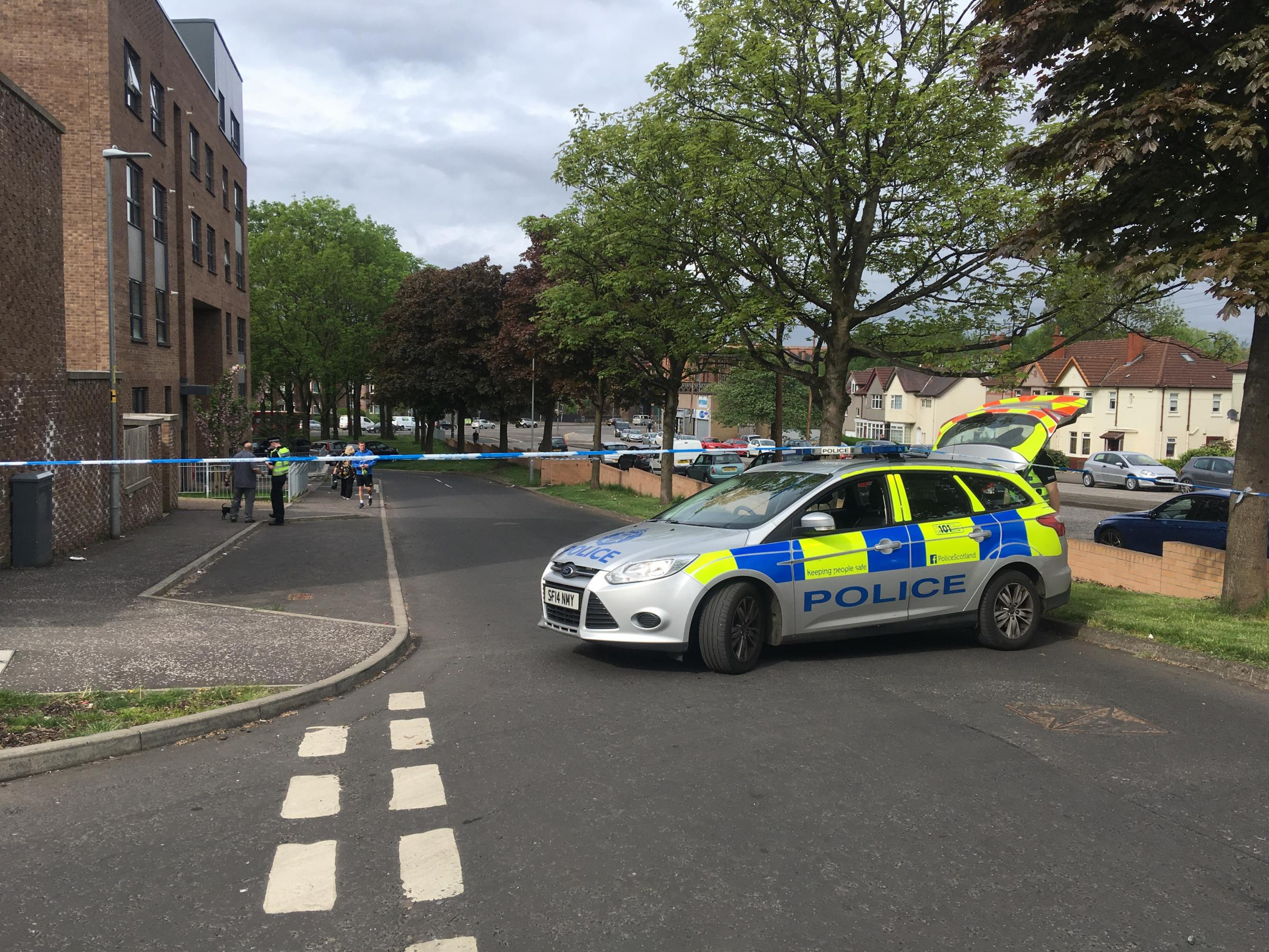 Scotstoun flats cordoned off following reports of shooting