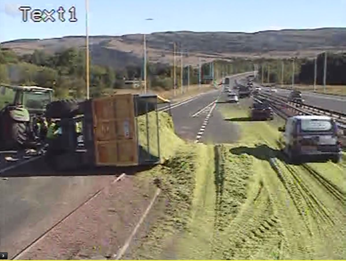 Hayfever hell: Erskine Bridge reopens after six tonnes of cut grass spill out