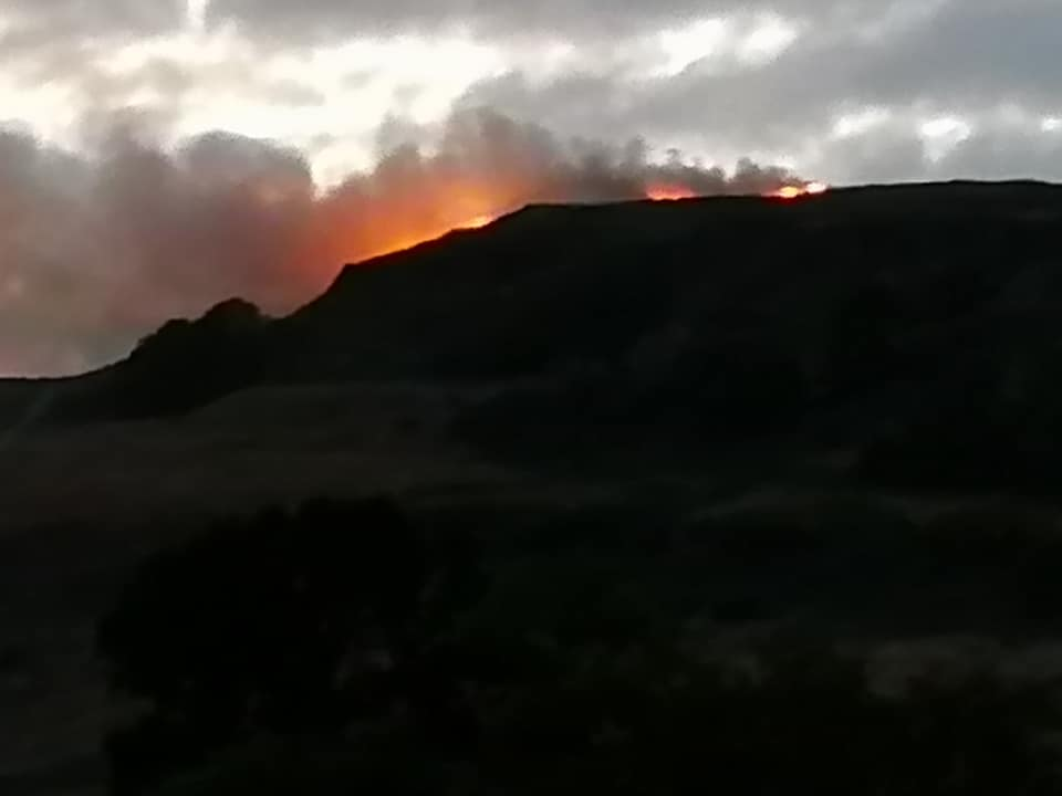 The fire in the Kilpatrick Hills was reported on Monday night
