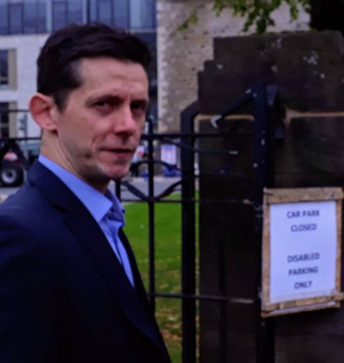 Graham Campbell outside Dumbarton Sheriff Court