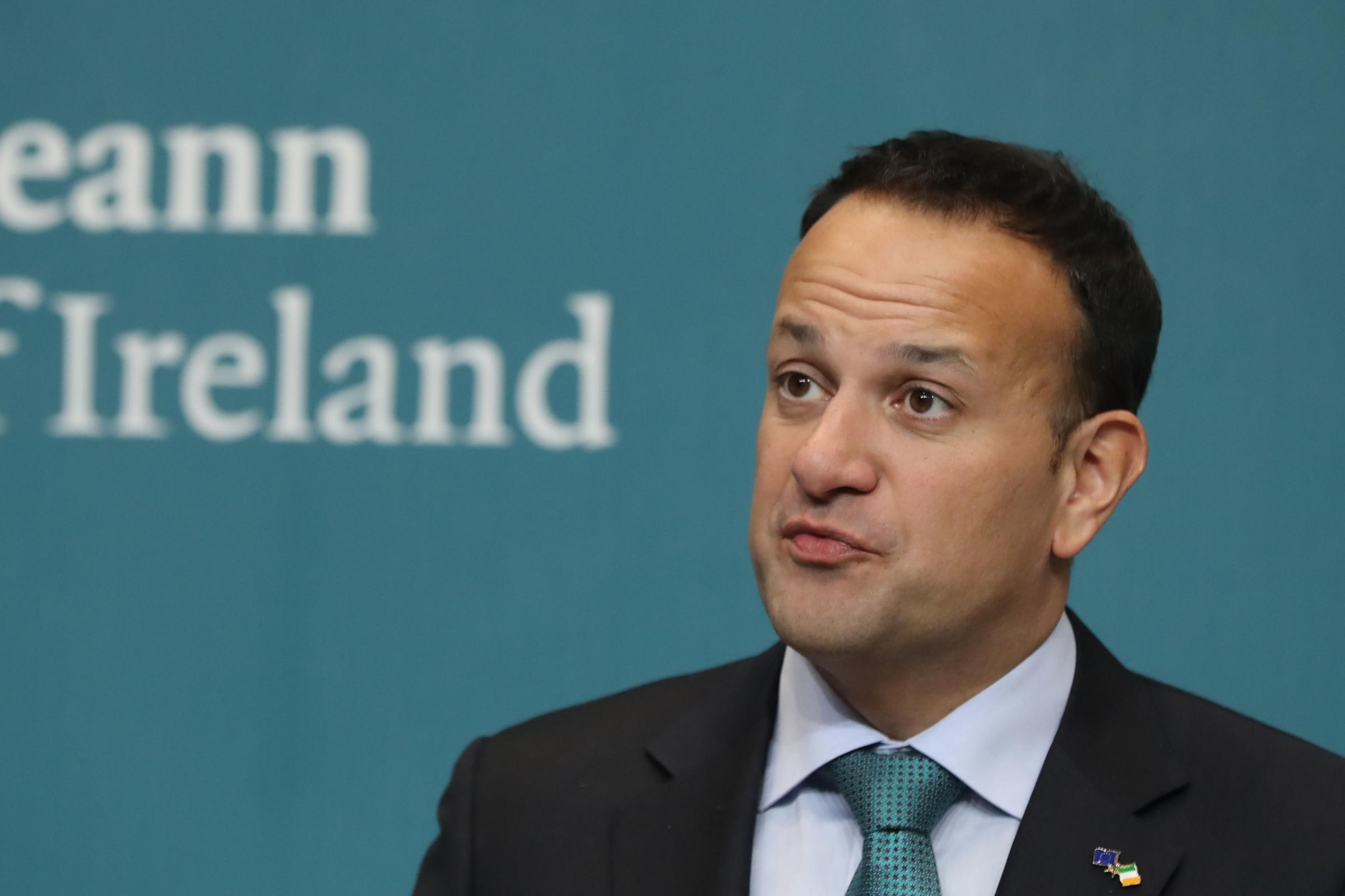 Leo Varadkar speaks at a press conference on Brexit