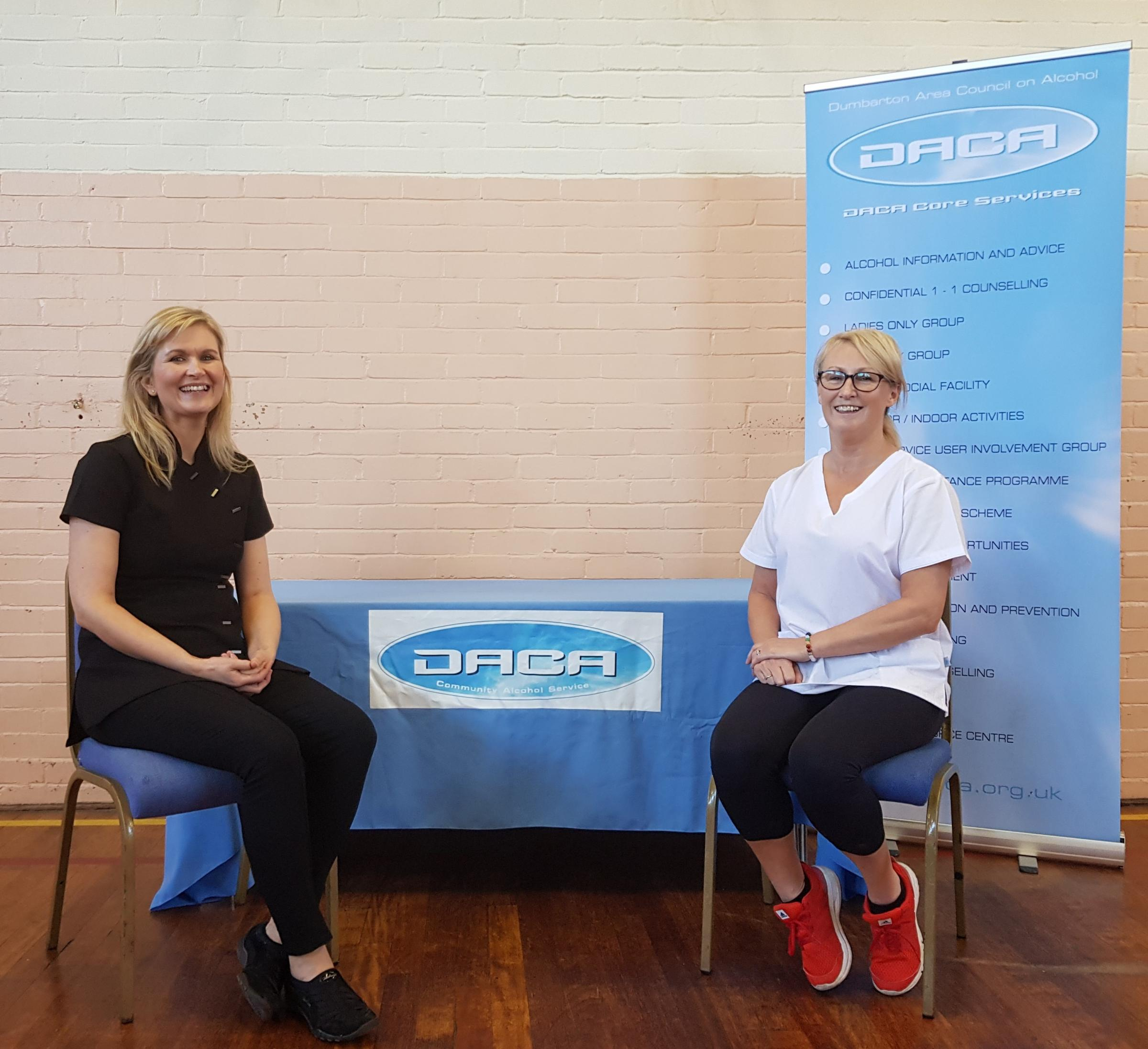 DACA complementary therapists, Helen McHugh and Anne Murray