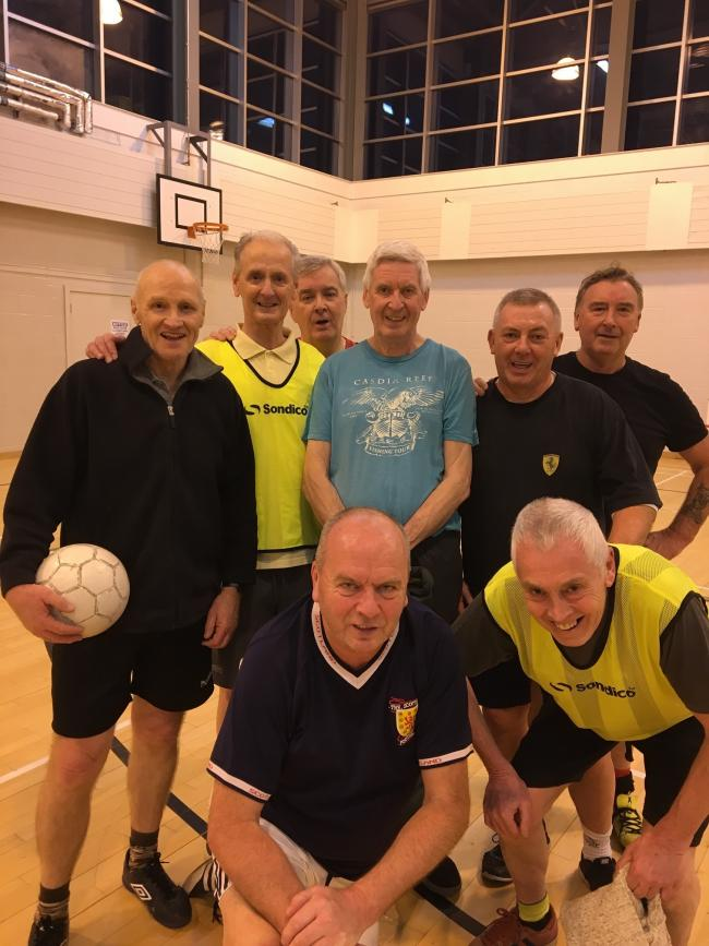Players enjoy walking football regularly at West College Scotland