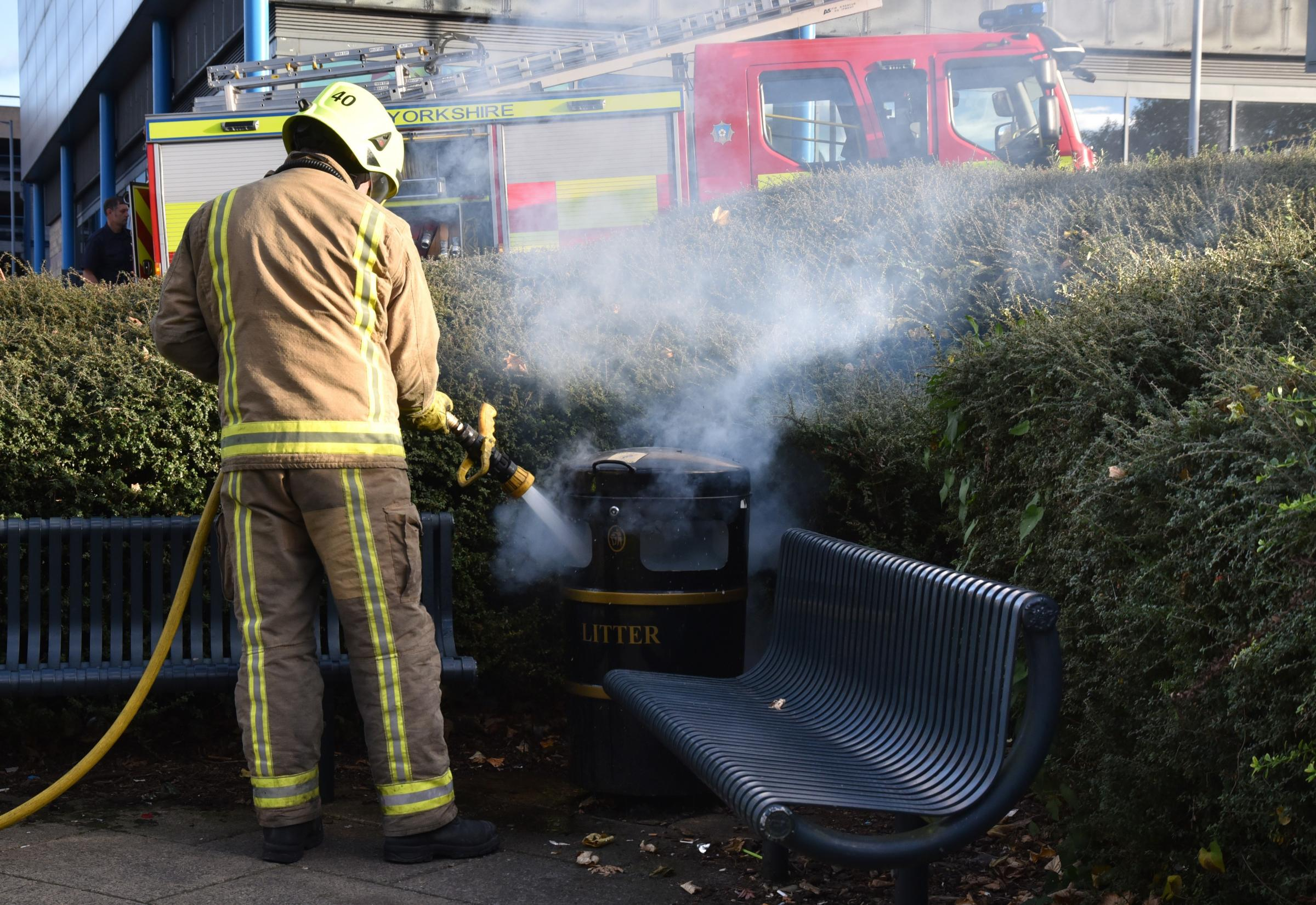 The deliberate fires involved building and vehicle fires, and incidents involving outdoor areas such as refuse