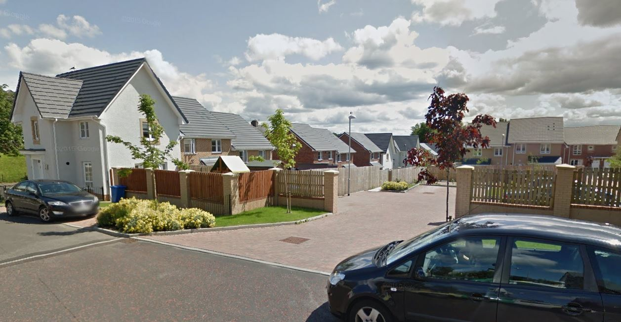 The incident took place at Clarence Drive in Clydebank (Image: Google)