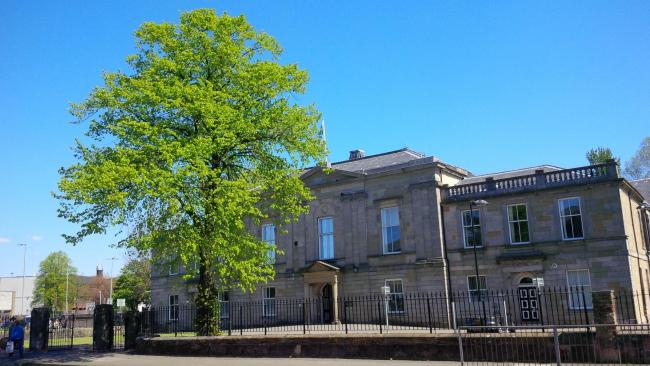Dumbarton Sheriff Court, where Brian Campbell was sentenced on August 16