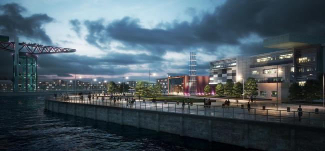 The £250m Queens Quay regeneration project underway at Clydebank features an innovative energy centre which will harness the sustainable energy of the River Clyde for an environmentally-friendly, cost-effective district heating network.