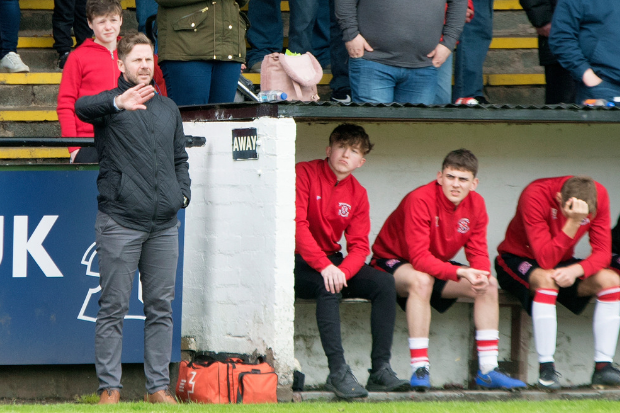Bankies gaffer keen to see the back of his side's season (Photo: Stevie Doogan)
