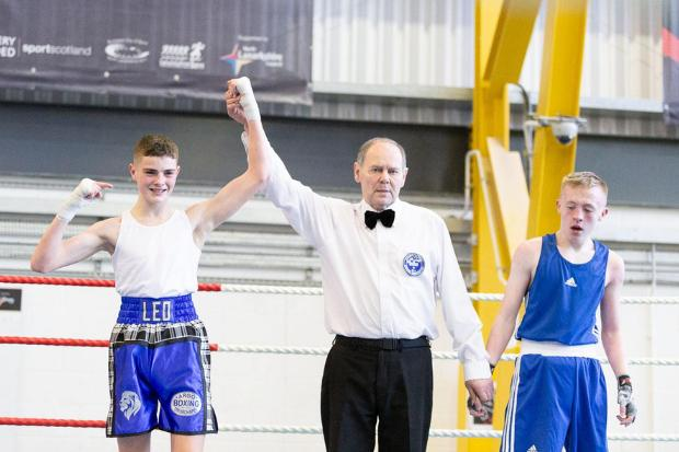Leo, left, stormed to 48kg gold at the Scottish Intermediate Championships earlier this year