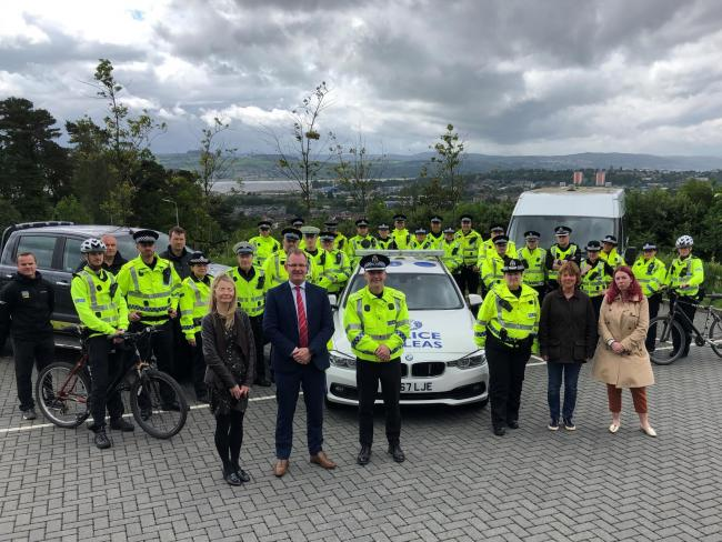Chief Inspector Scott Carlin along with officers from across West Dunbartonshire who will be part of the Summer Task Force
