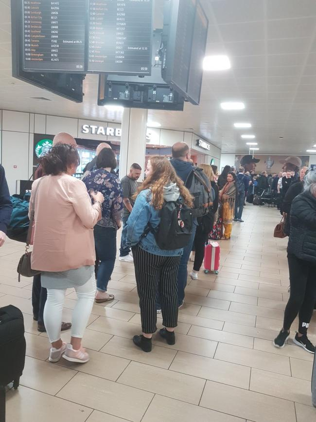 Queues at Glasgow Airport
