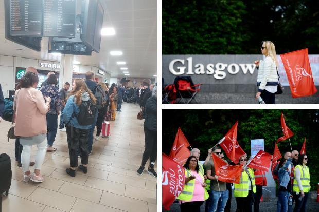 Passengers were hit with delays Friday when staff went out on strike