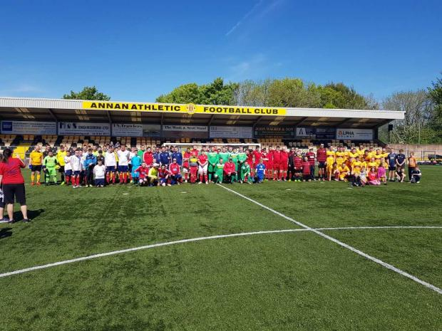 Clydebank Post: More than 130 players from 16 teams across Scotland took part in Annan Athletic's summer festival